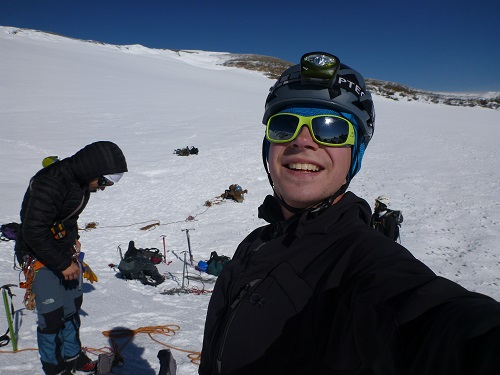 Here's me wearing my Vizz at the summit crater of Mt. Rainier.  While the Vizz might not be ideal for mountaineering it did get me to the top of Mt. Rainier during our early morning summit bid.  Got to give it props for that!