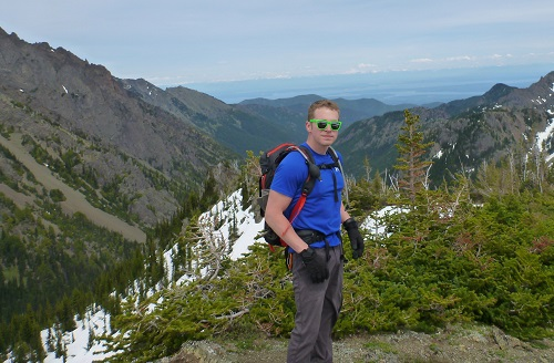 Rocking the Black Diamond Bolt backpack on top of Marmot Pass in Washington's Olympic mountains.