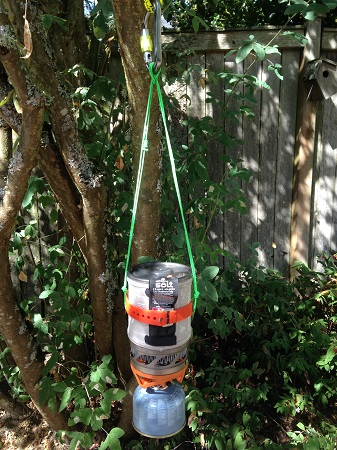 Hanging a Jetboil