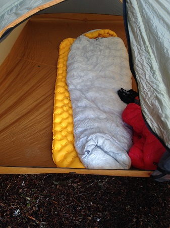 Sea of Summit UltraLight Sleeping Mat In Use